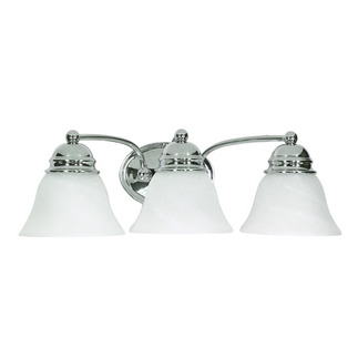 (3 Light) Vanity - Polished Chrome / Alabaster Glass Bell - Nuvo Lighting 60-338