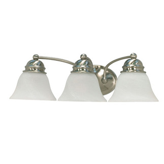 (3 Light) Vanity - Brushed Nickel / Alabaster Glass Bell - Nuvo Lighting 60-342