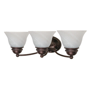 (3 Light) Vanity - Old Bronze / Alabaster Glass Bell - Nuvo Lighting 60-346