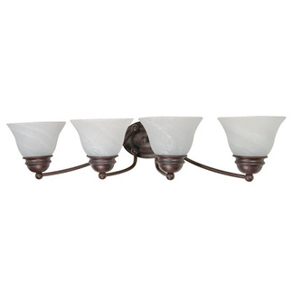 (4 Light) Vanity - Old Bronze / Alabaster Glass Bell - Nuvo Lighting 60-347