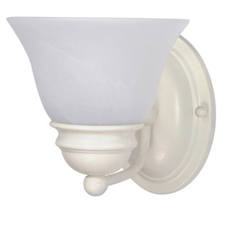 (1 Light) Vanity - Textured White / Alabaster Glass Bell - Nuvo Lighting 60-352