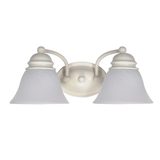 (2 Light) Vanity - Textured White / Alabaster Glass Bell - Nuvo Lighting 60-353