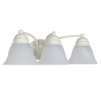 (3 Light) Vanity - Textured White / Alabaster Glass Bell - Nuvo Lighting 60-354