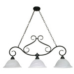 (3 Light) Trestle - Textured Black / Alabaster Swirl Glass - Nuvo Lighting 60-382