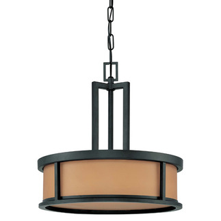 (4 CFL) Pendant - Aged Bronze / Parchment Glass - Energy Star Qualified - Nuvo Lighting 60-3827