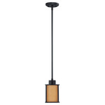 (1 CFL) Mini Pendant - Aged Bronze / Parchment Glass - Energy Star Qualified - Nuvo Lighting 60-3828