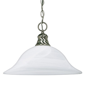 (1 Light) Pendant - Brushed Nickel / Alabaster Glass - Nuvo Lighting 60-390