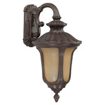 (1 CFL) (Arm Down) Small Wall Fixture - Fruitwood / Amber Water - Energy Star Qualified - Nuvo Lighting 60-3906