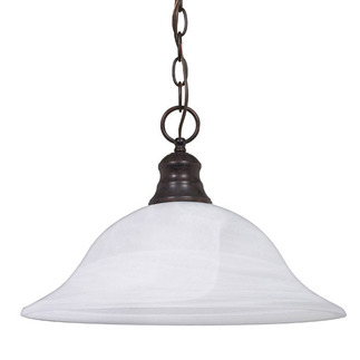 (1 Light) Pendant - Old Bronze / Alabaster - Nuvo Lighting 60-391