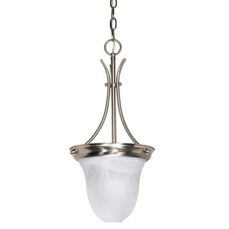 (1 Light) Pendant - Brushed Nickel / Alabaster Glass - Nuvo Lighting 60-394