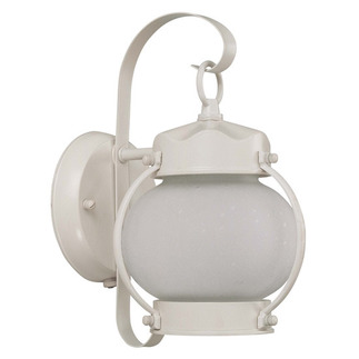(1 CFL) Onion Outdoor Wall Fixture - White / Frosted Glass - Energy Star Qualified - Nuvo Lighting 60-3941