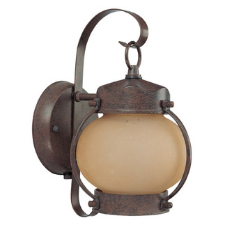 (1 CFL) Onion Outdoor Wall - Old Bronze / Frosted Glass - Energy Star Qualified - Nuvo Lighting 60-3942