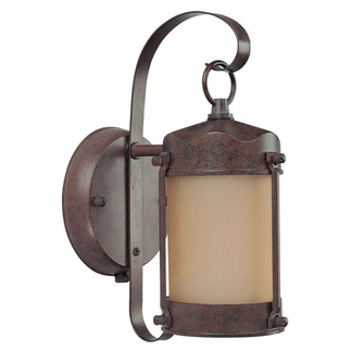 (1 CFL) Piper Outdoor Wall - Old Bronze / Frosted Glass - Energy Star Qualified - Nuvo Lighting 60-3945