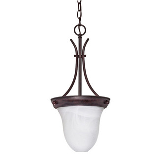 (1 Light) Pendant - Old Bronze / Alabaster Bell - Nuvo Lighting 60-395