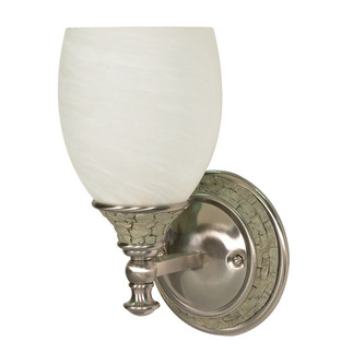 (1 Light) Vanity - Brushed Nickel / Alabaster Swirl Glass - Nuvo Lighting 60-453 - residential
