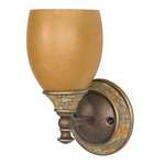 (1 Light) Vanity - Dorado Bronze / Sepia Colored Glass - Nuvo Lighting 60-457 - Residential Light Fixture