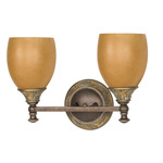 (2 Light) Vanity - Dorado Bronze / Sepia Colored Glass - Nuvo Lighting 60-458
