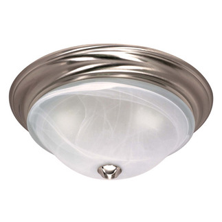 (2 CFL) - Flush Mount Ceiling Fixture - Brushed Nickel / Sculptured Alabaster Glass - Energy Star Qualified - Nuvo Lighting 60-463 - residential