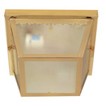 (2 Light) Carport Flush Mount - Polished Brass / Texture Frosted Glass - Nuvo Lighting 60-471 - Residential Light Fixture