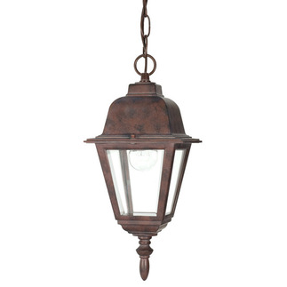 (1 Light) Hanging Lantern - Old Bronze / Clear Glass - Nuvo Lighting 60-488