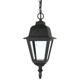 (1 Light) Hanging Lantern - Textured Black / Clear Glass - Nuvo Lighting 60-489