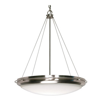 (3 CFL) Pendant - Brushed Nickel / Opal White - Energy Star Qualified - Nuvo Lighting 60-493