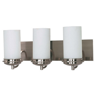 (3 CFL) Vanity - Brushed Nickel / Opal White - Energy Star Qualified - Nuvo Lighting 60-496