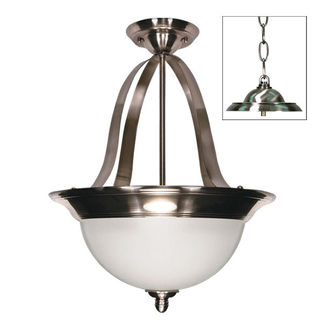 (2 CFL) Pendant - Smoked Nickel / Satin Frosted - Energy Star Qualified - Nuvo Lighting 60-505