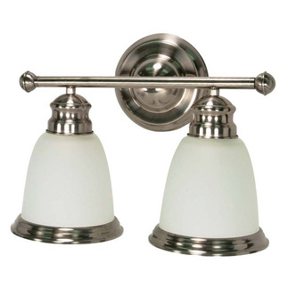 (2 CFL) Vanity - Smoked Nickel / Satin Frosted - Energy Star Qualified - Nuvo Lighting 60-507