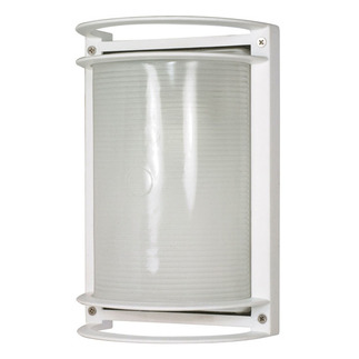 (1 Light) Rectangle Bulk Head - Semi Gloss White / Frosted - Nuvo Lighting 60-530