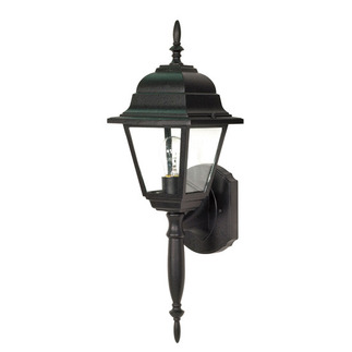 (1 Light) Wall Lantern - Textured Black / Clear Seed Glass - Nuvo Lighting 60-542