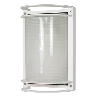 (1 CFL) Rectangle Bulk Head - Semi Gloss White / Frosted - Nuvo Lighting 60-574