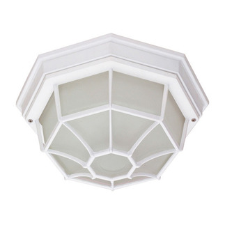 (1 CFL) Ceiling Spider Cage Fixture - White / Frosted - Nuvo Lighting 60-578