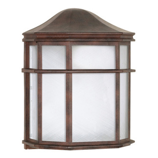 (1 CFL) Cage Lantern Wall Fixture - Nuvo Lighting 60-582