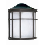 (1 CFL) Cage Lantern Wall Fixture - Textured Black / White Acrylic - Nuvo Lighting 60-583 - Residential Light Fixture