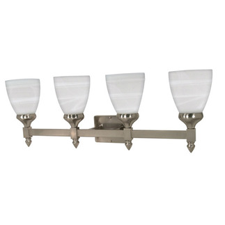 (4 Light) Vanity - Brushed Nickel / Sculptured Glass - Nuvo Lighting 60-594