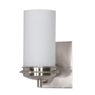 (1 Light) Vanity - Brushed Nickel / Satin Frosted Glass - Nuvo Lighting 60-611