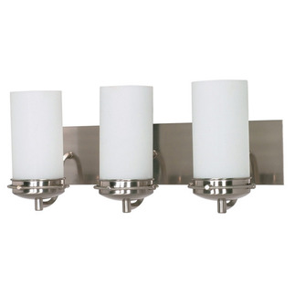 (3 Light) Vanity - Brushed Nickel / Satin Frosted Glass - Nuvo Lighting 60-613