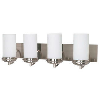(4 Light) Vanity - Brushed Nickel / Satin Frosted Glass - Nuvo Lighting 60-614