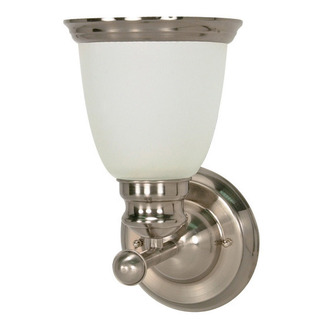 (1 Light) Vanity - Smoked Nickel / Satin Frosted Glass - Nuvo Lighting 60-622