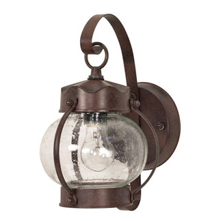 (1 Light) Wall Lantern - Onion Lantern - Old Bronze / Clear Seed Glass - Nuvo Lighting 60-631
