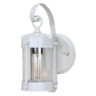 (1 Light) Wall Lantern - Piper Lantern - White / Clear Seed Glass - Nuvo Lighting 60-633
