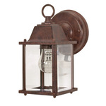(1 Light) Wall Lantern - Cube Lantern - Old Bronze / Clear Beveled Glass - Nuvo Lighting 60-637